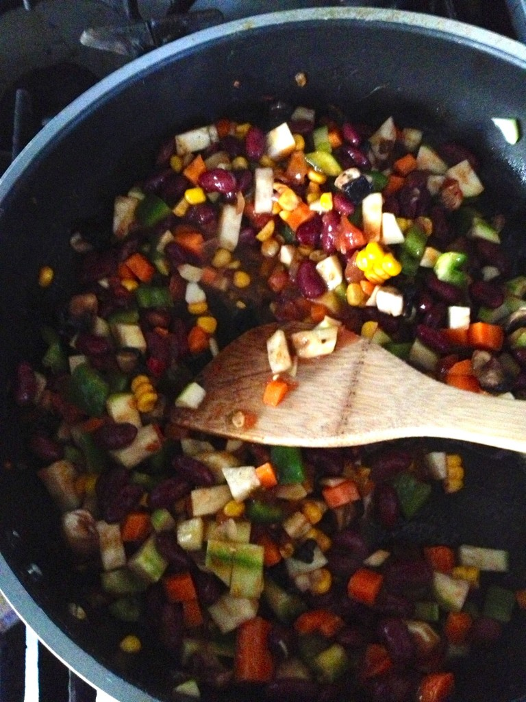 Beans and veggies - rainbow deliciousness!