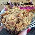 Recipe: Apple-Berry Crumble Muffins
