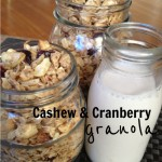 Recipe: Cashew & Cranberry Granola