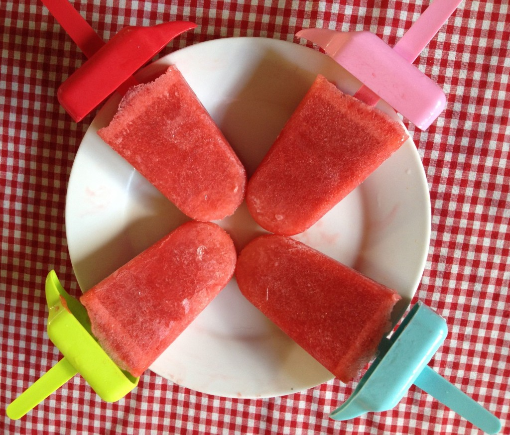 Strawberry & Peach Vodka Popsicle