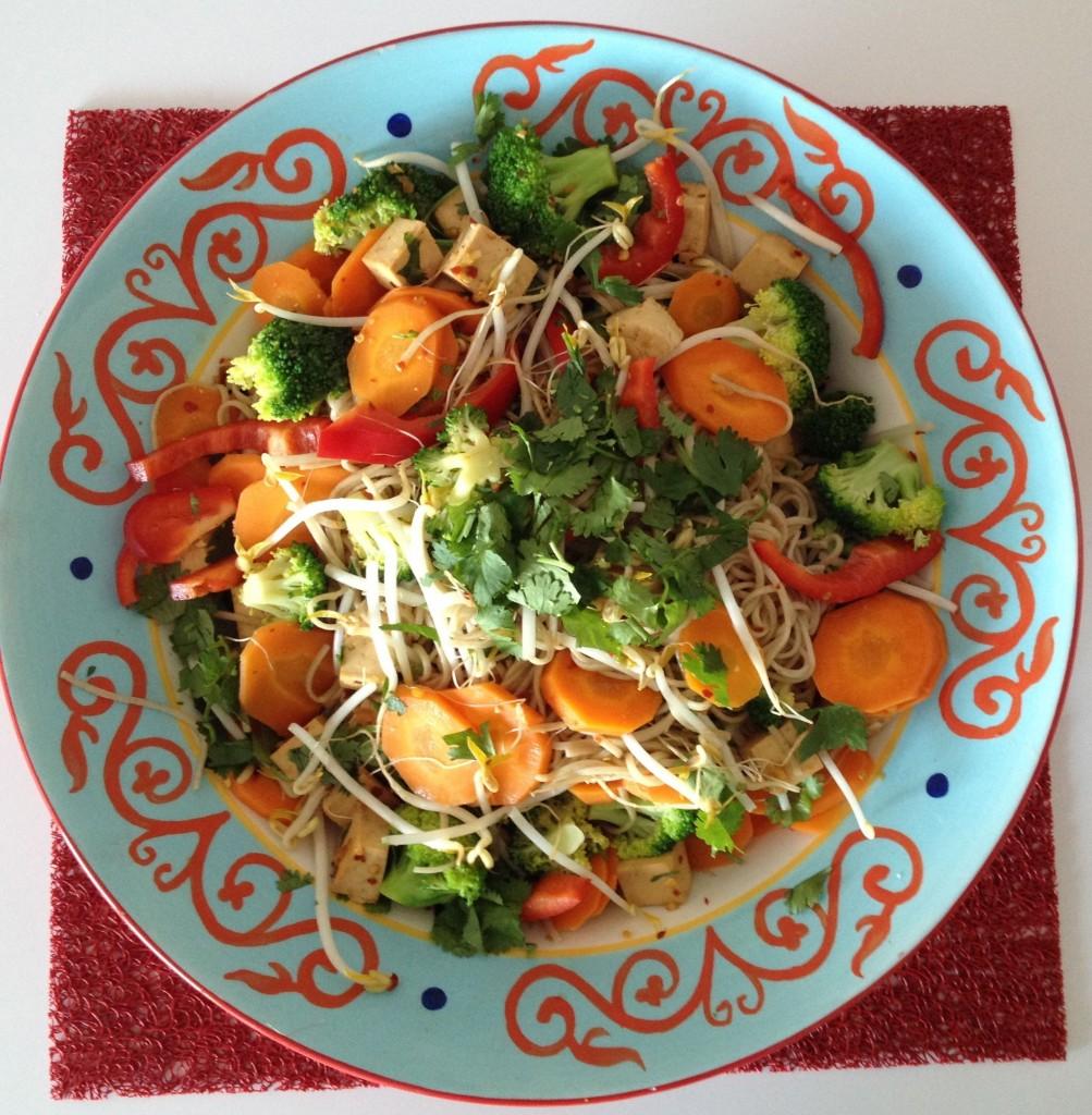 Ginger Garlic Soba Noodle Salad