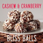 Recipe: Cashew and Cranberry Bliss Balls