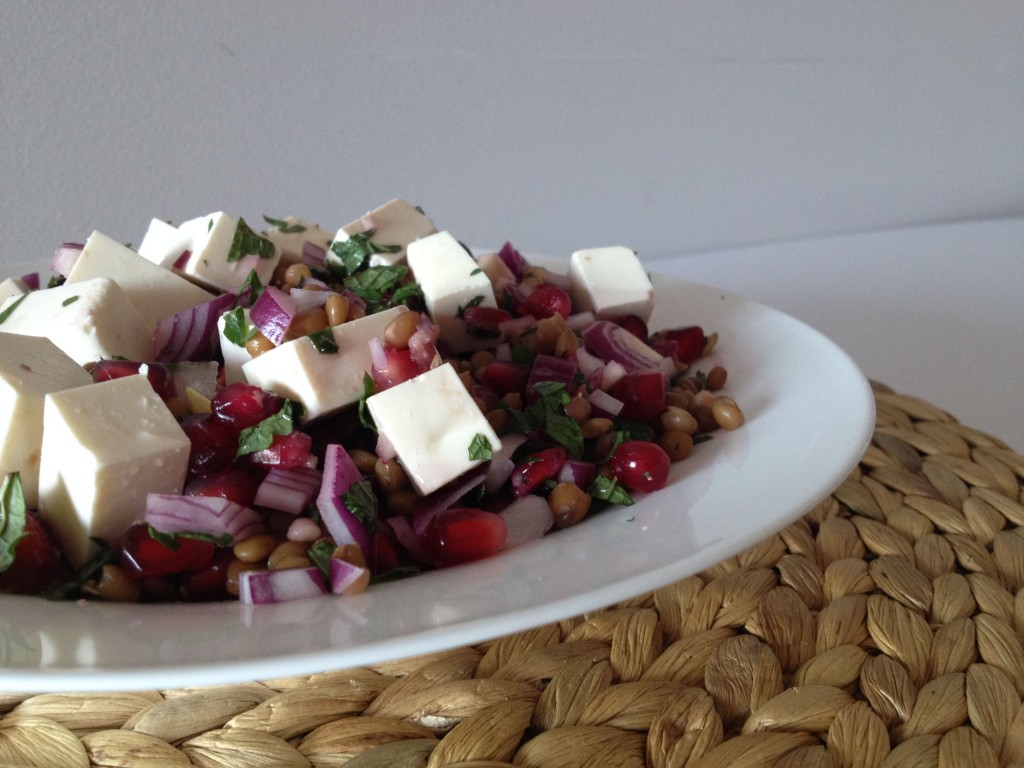 Pomegranate & Feta Lentil Salad