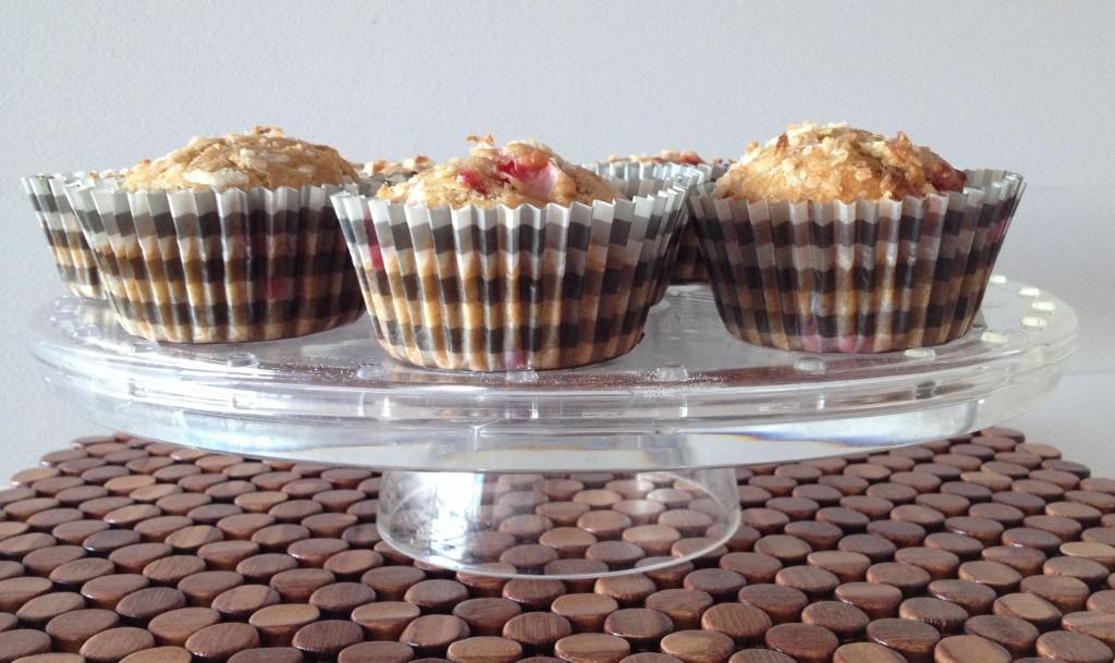 Strawberry & Coconut Spelt Flour Muffins