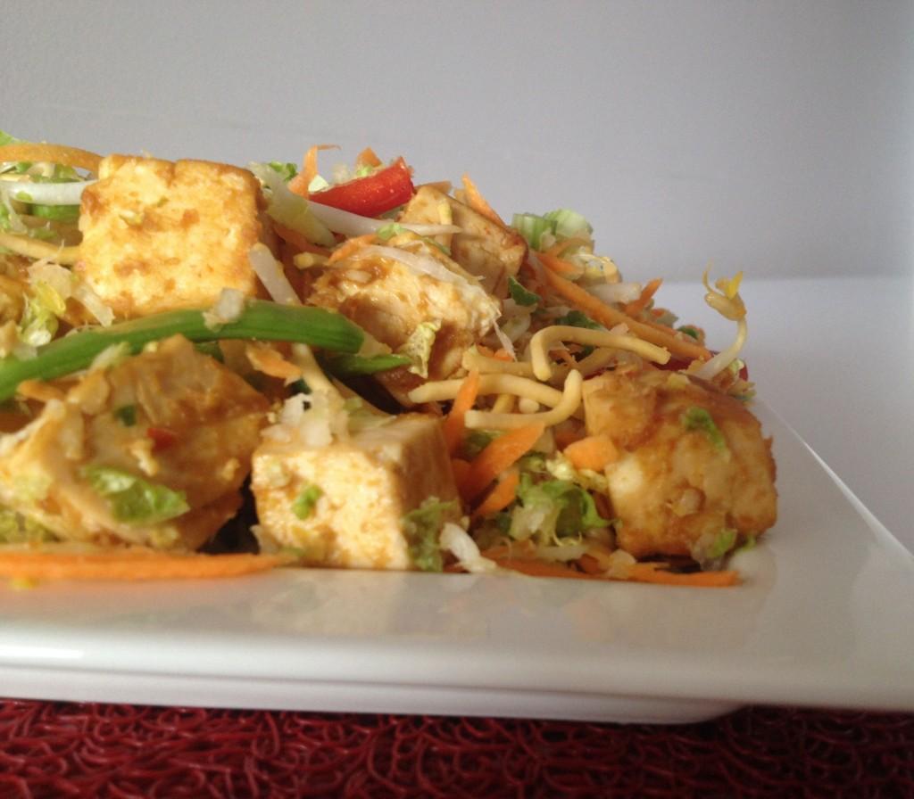 Crunchy Noodle Tofu Salad