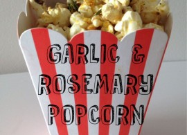 Garlic and Rosemary Popcorn