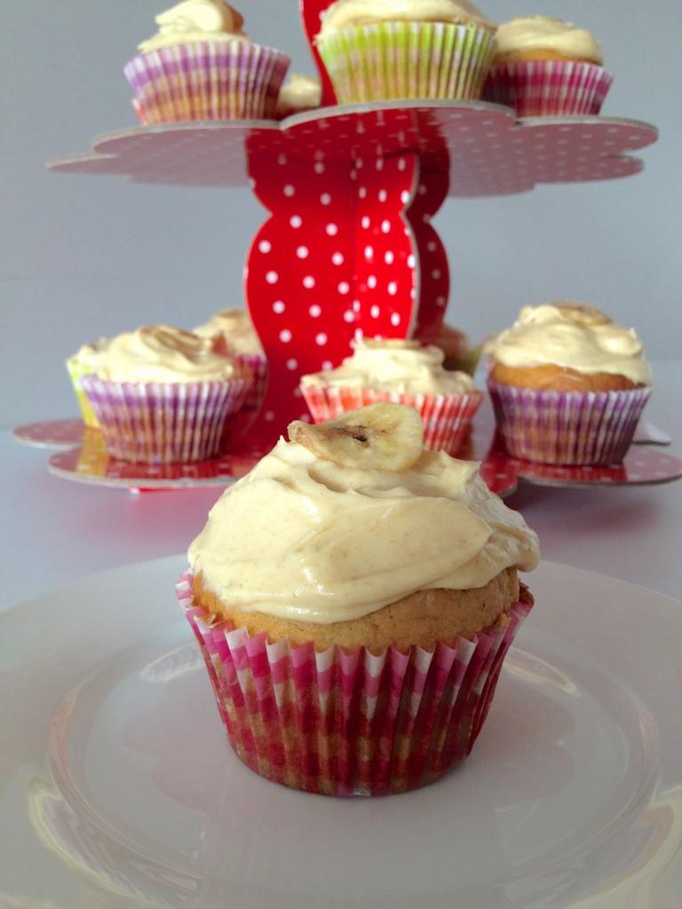 Banana Salted Caramel Cupcakes
