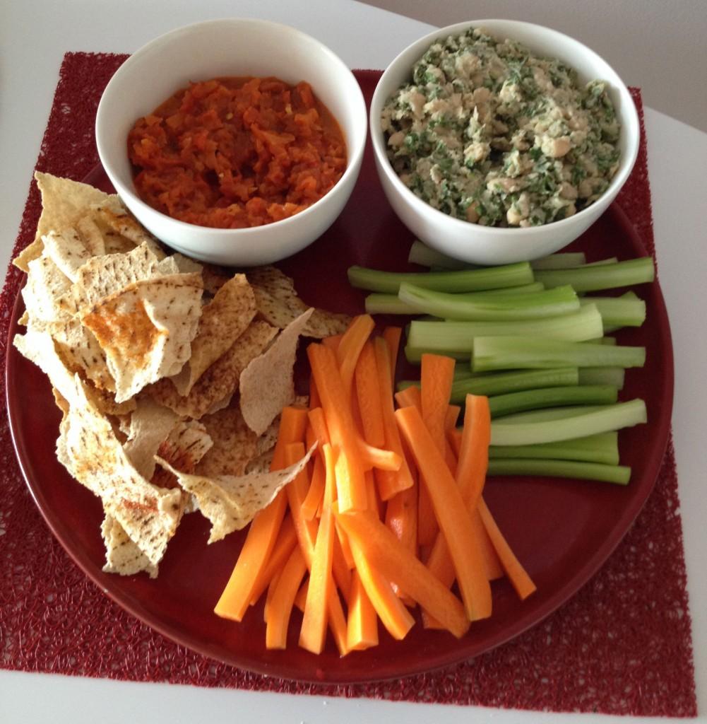 Vegan dip platter