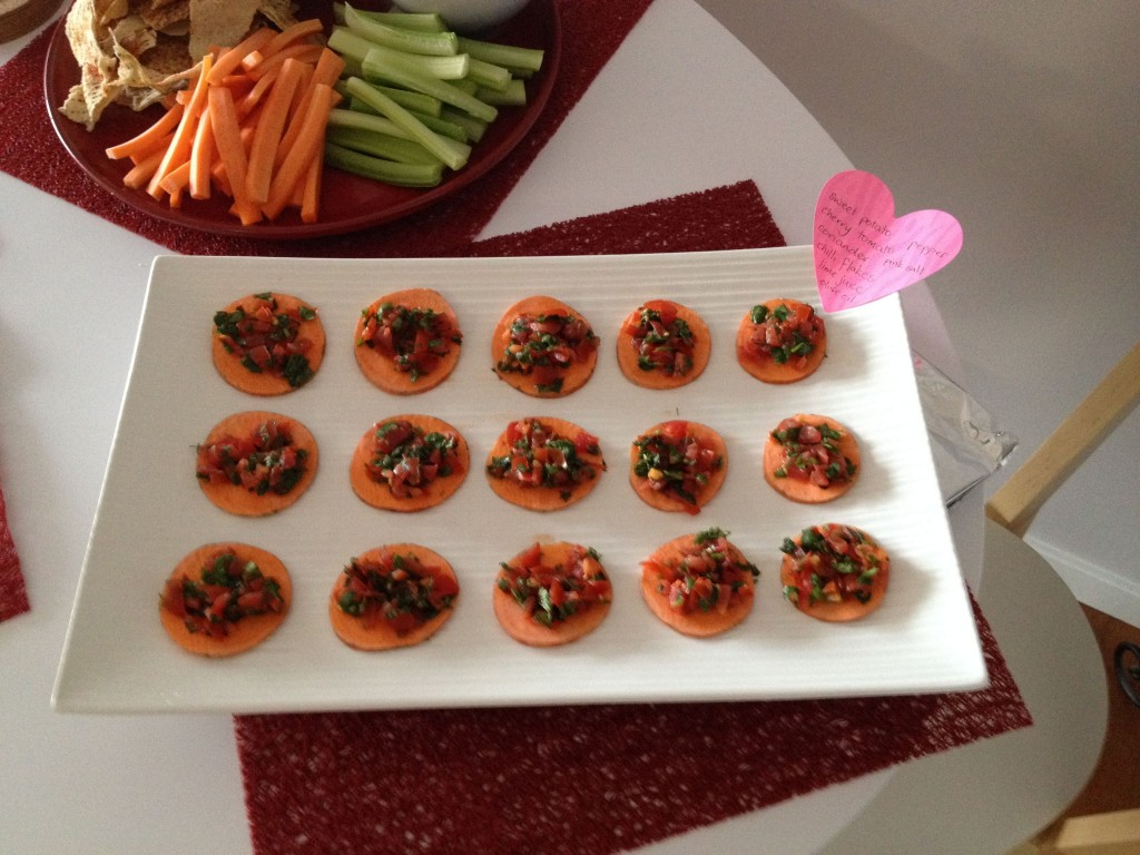 Raw sweet potato rounds