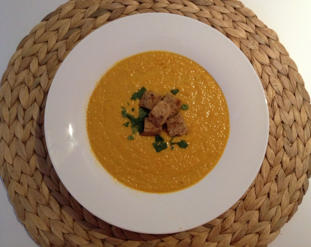 Carrot, Ginger & Coconut Soup