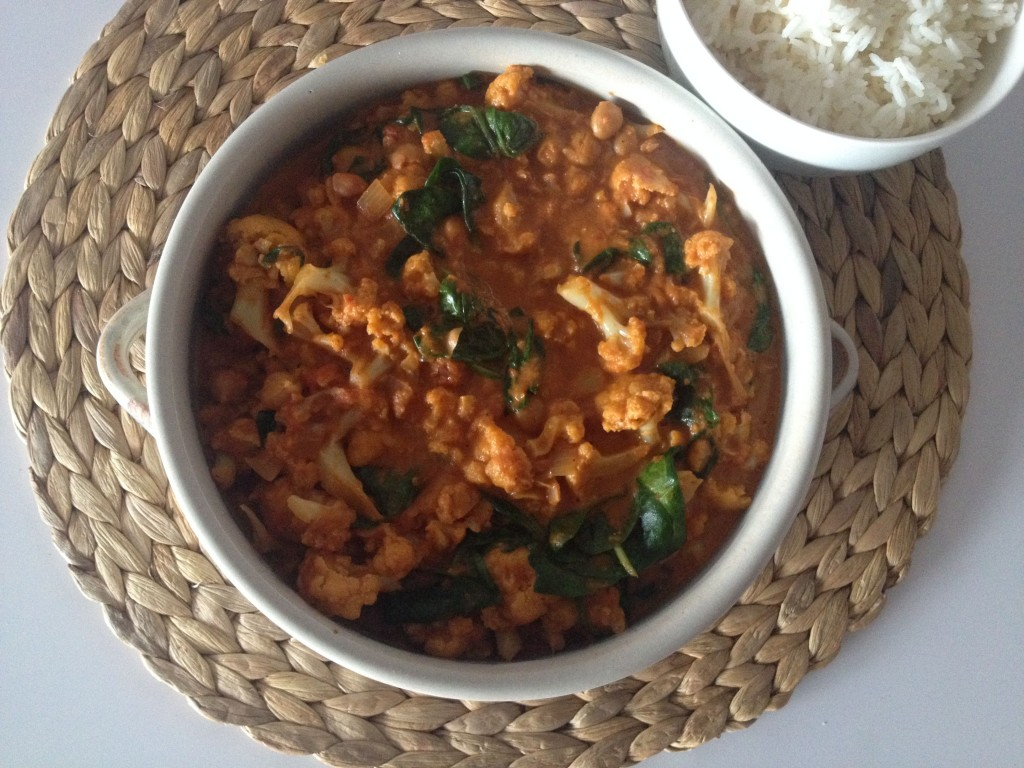Vegan Chickpea and Cauliflower Curry