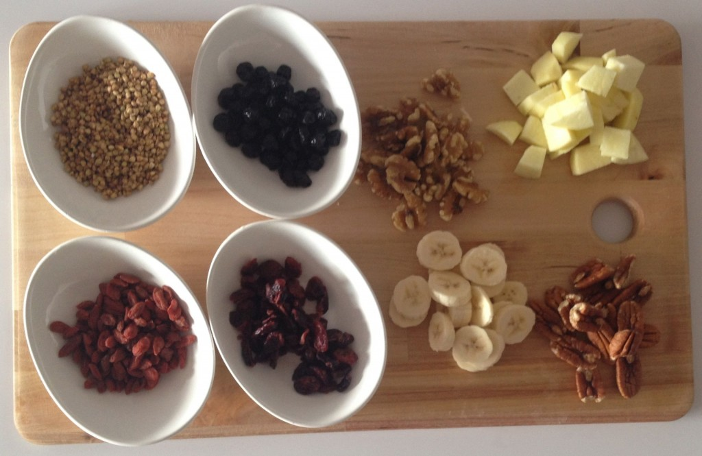 Quinoa flake porridge toppings