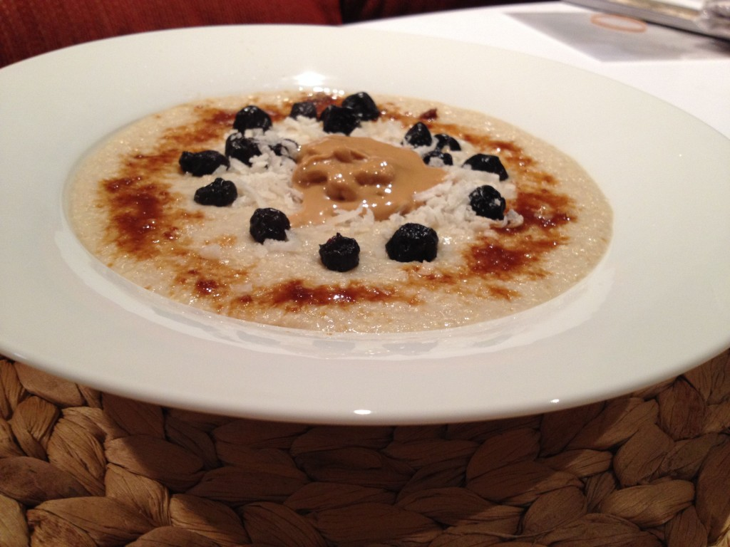 Quinoa Flake Porridge with dried blueberries