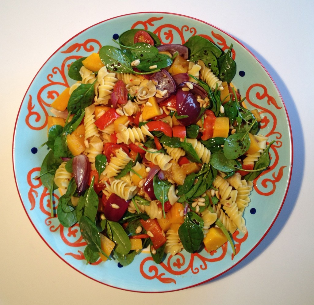 Roast vegetable pasta salad