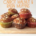 Recipe: Carrot Walnut & Raisin Muffins