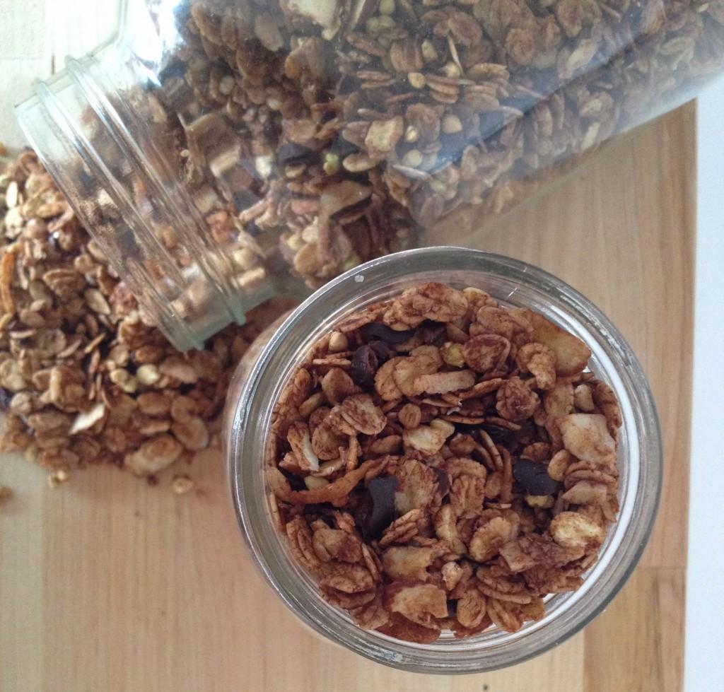 healthy choc-coconut granola