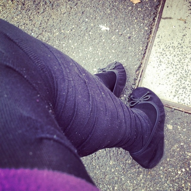 Day 22: Textured - ribbed tights for a fresh Melbourne Monday #foxinflatsstyledare