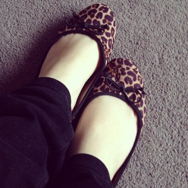 Day 24: Foxy Flats - leopard print seemed appropriate today! #foxinflatsstyledare