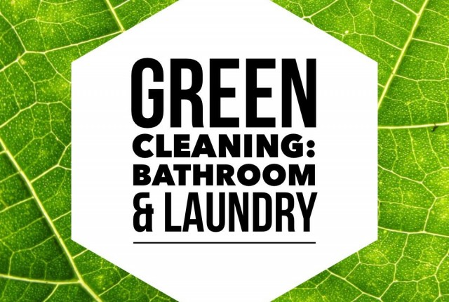 Green Cleaning Bathroom and Laundry