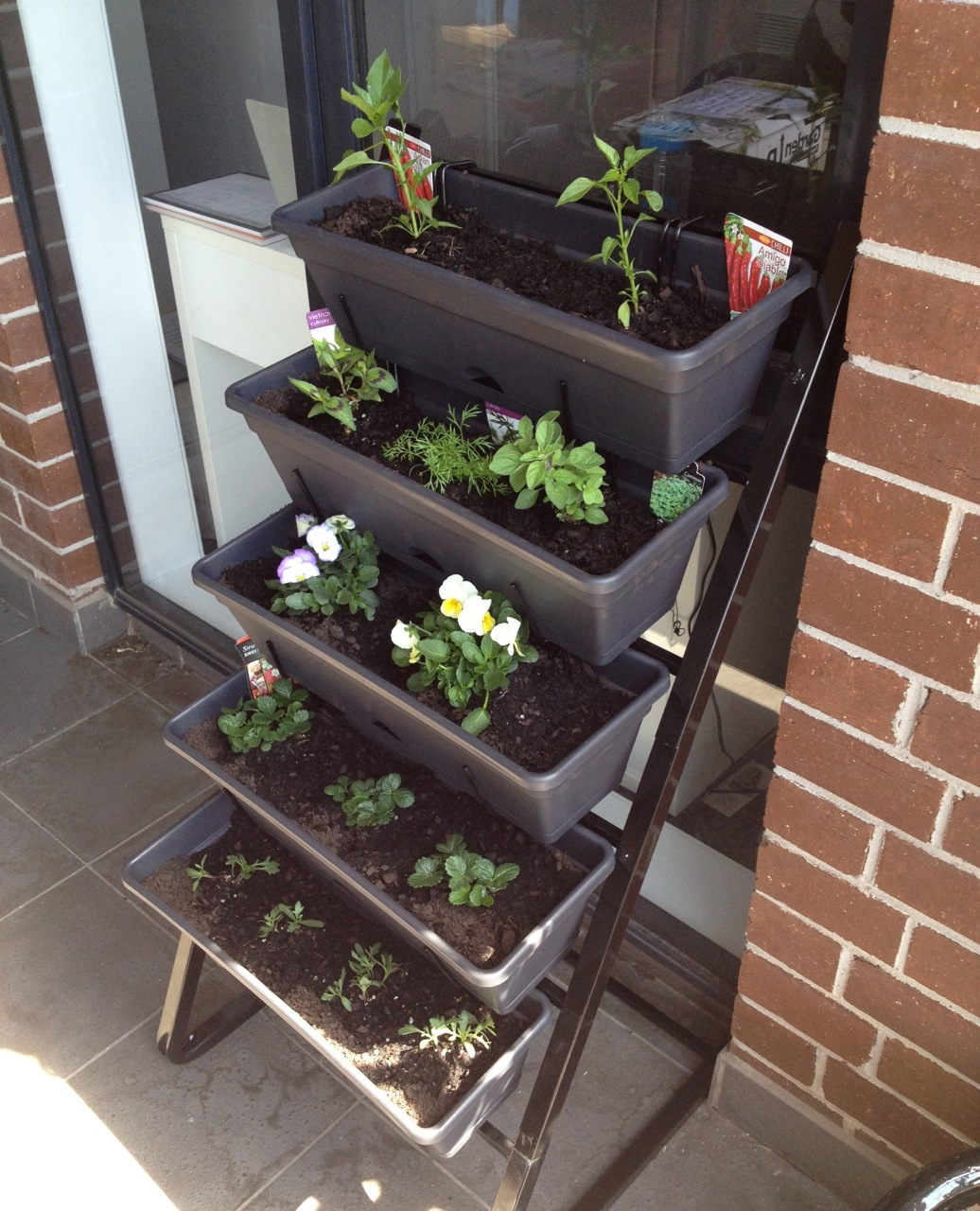 Balcony Gardening: Freestanding Vertical Garden Edition