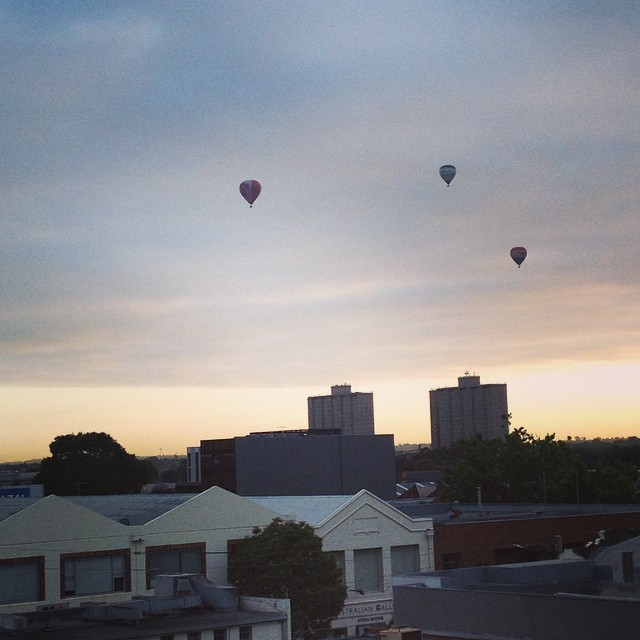 Good morning from my balcony! #hotairballoons #collingwood #morning