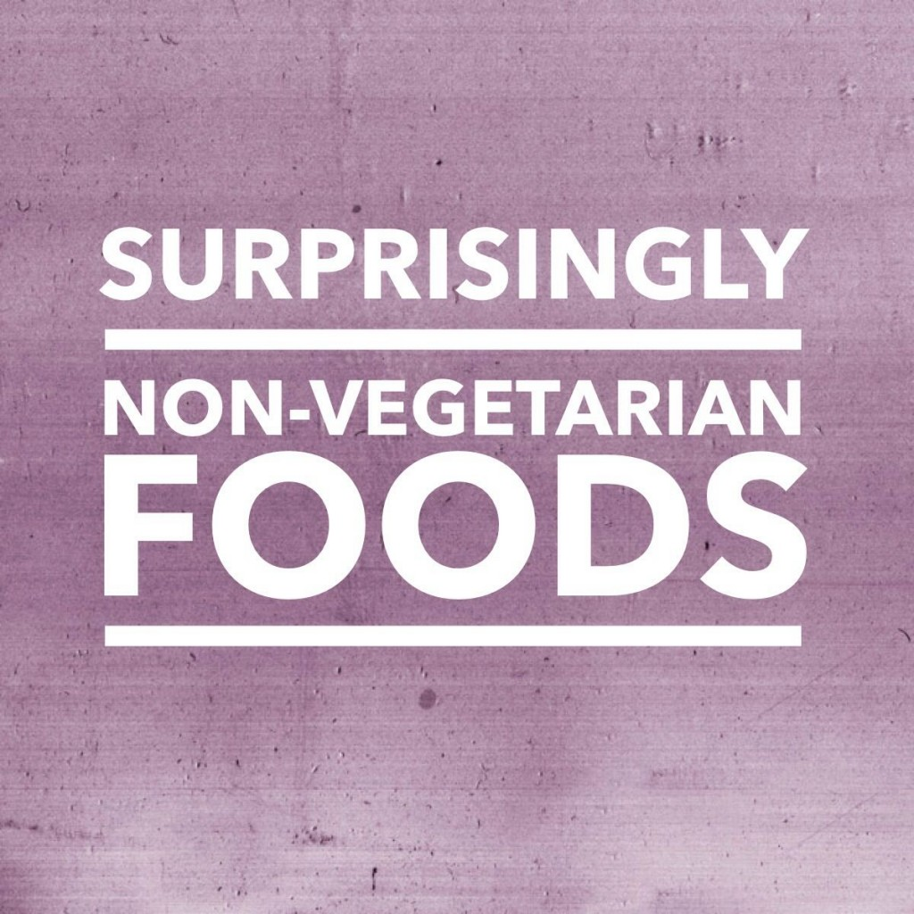 Surprisingly non-vegetarian foods
