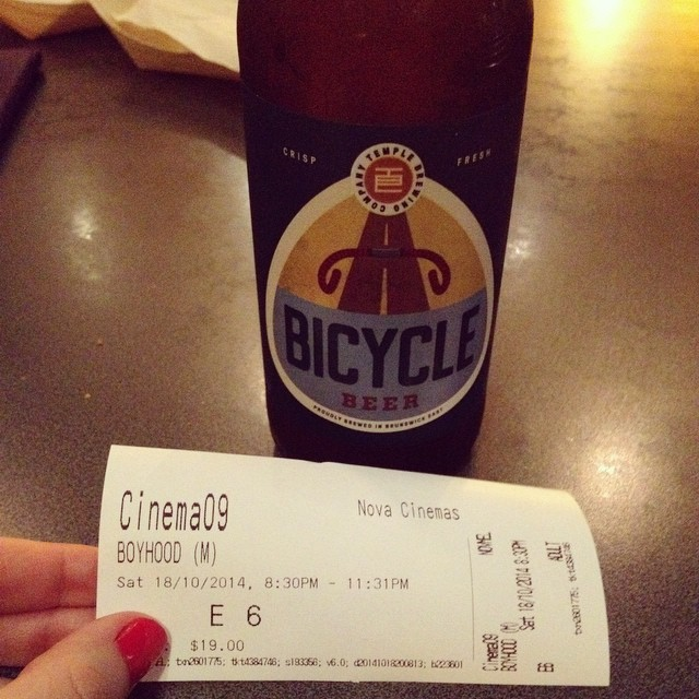 Beer and a movie, it must be date night! Love a cinema where they let you bring in drinks!