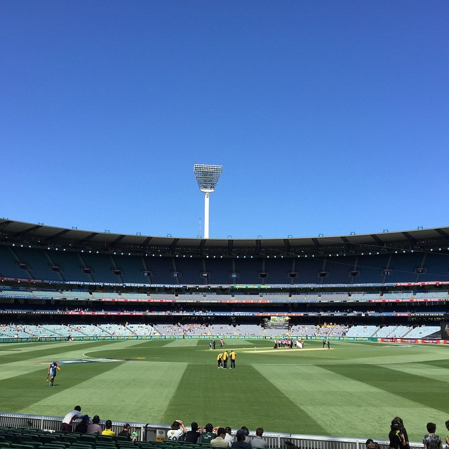 What a gorgeous day for a game of cricket #MCG #cricket