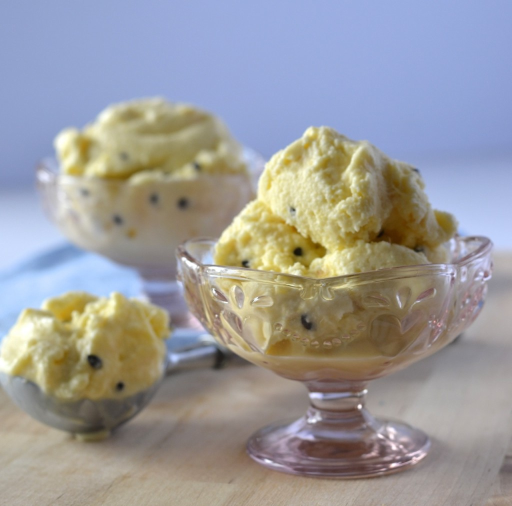 Pineapple Passionfruit Coconut Milk Ice Cream