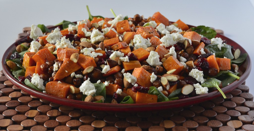 Roast chickpea & sweet potato salad