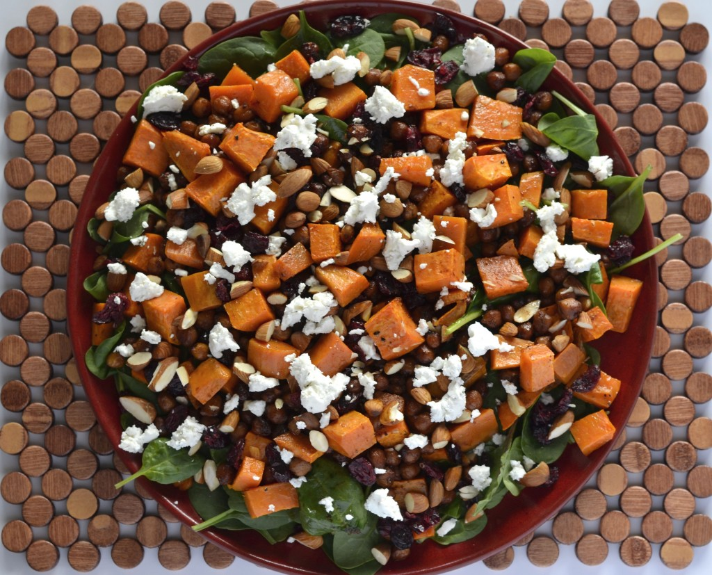 Roast chickpea & sweet potato salad