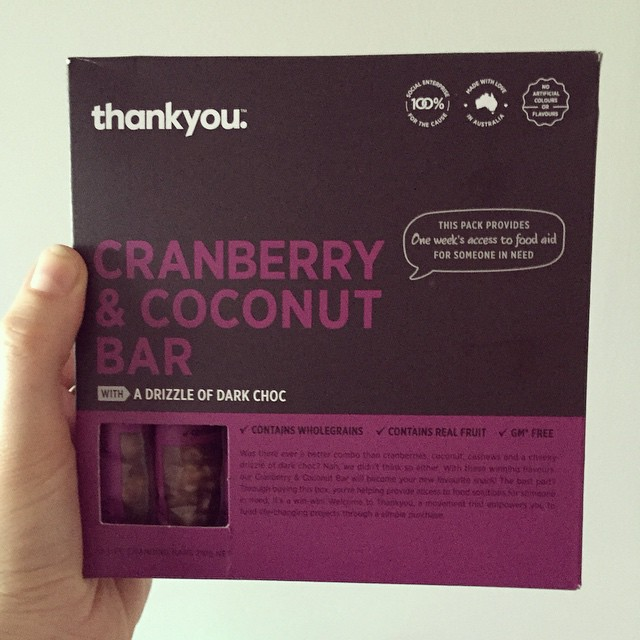 Trying out the new @thankyougroup muesli bars - fancy new packaging and super delicious bars too. Look out for them! #gifted #thankyou #snackfood #coconut