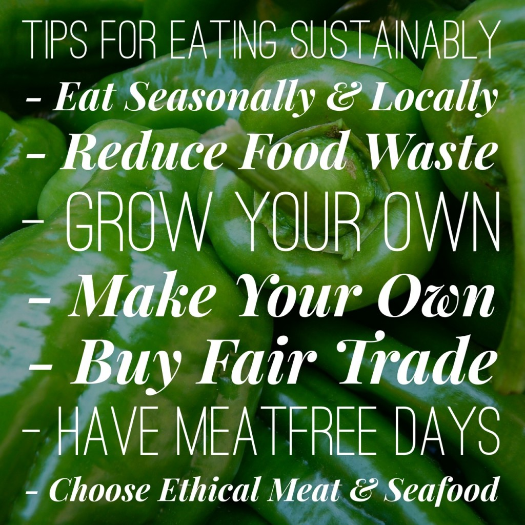 Top Tips for Eating Sustainably