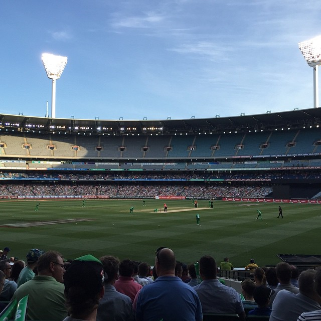 Glorious night for some Big Bash at the MCG. Summer in Melbourne is pretty great #cricket #bigbash