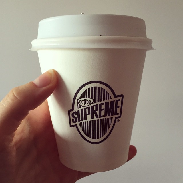 Picked up a cold filter coffee from @coffee_supreme_mel at the new #likemindedprojects on Smith Street. Will have to go back to try @ace_cookiesandmilk & @fredgetsfriendly too! Man I have good places near my house! #collingwood #coffee