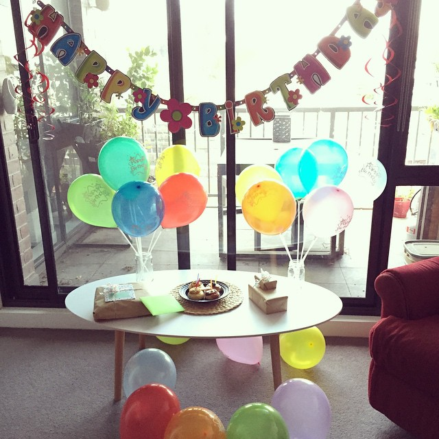 Ready for the birthday boy to get home! #balloons #birthday