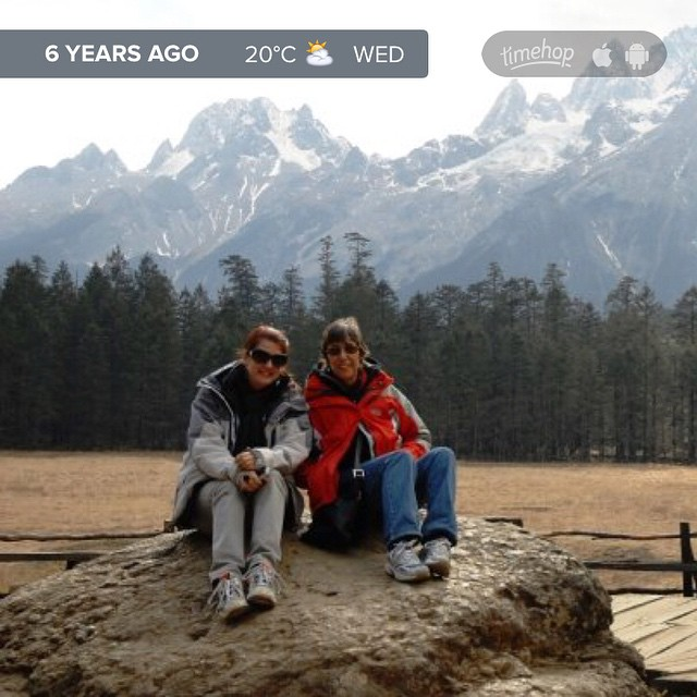 6 years ago I was at Jade Snow Mountain with my folks, one of the most beautiful parts of China I got to visit while they lived there. Such a great experience. #China #travel #timehop