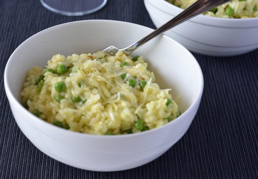 Pea, saffron & parmesan risotto