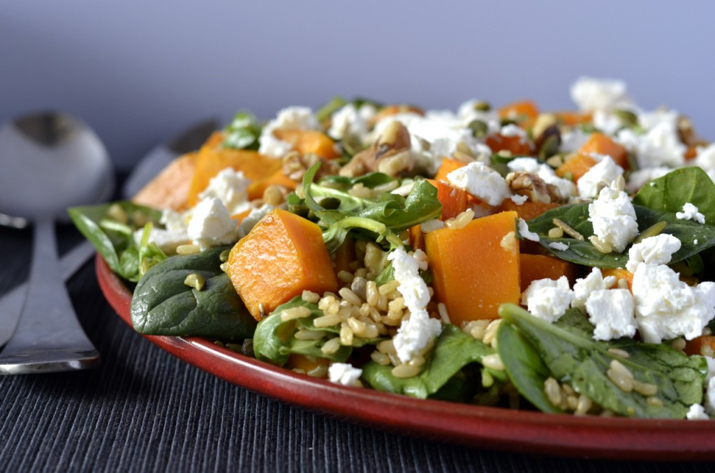 Brown rice pumpkin salad