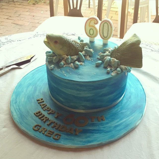 At the 60th birthday of a fish loving fellow, check out the cake! #birthdaycake #fish