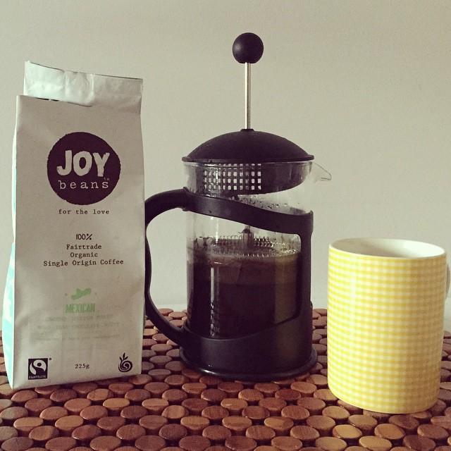 Good news, the @joybeanscoffee is delicious as well as fair trade & organic! #coffee #fairtrade #organic