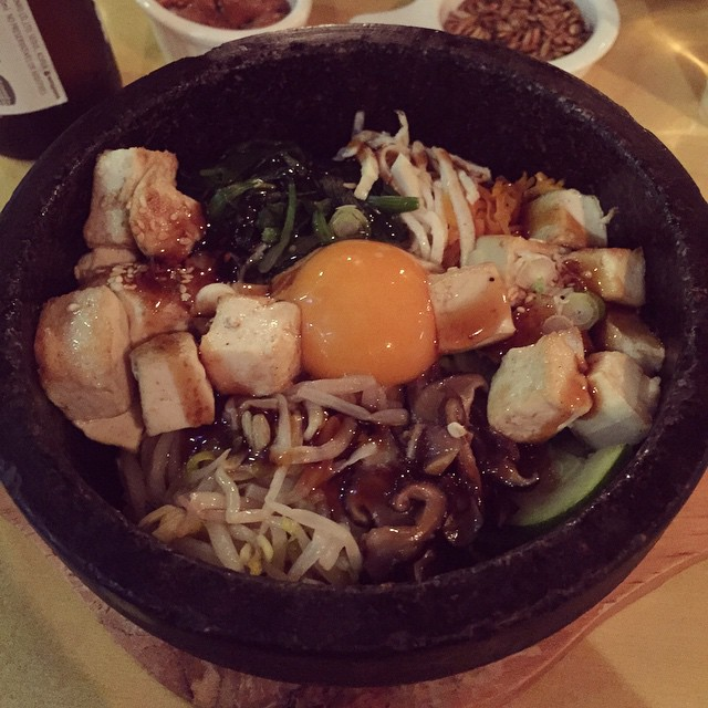 Pre comedy festival bibimbap at Warra Warra is becoming somewhat of a tradition apparently. Well it is delicious! #micf #bibimbap #dinner