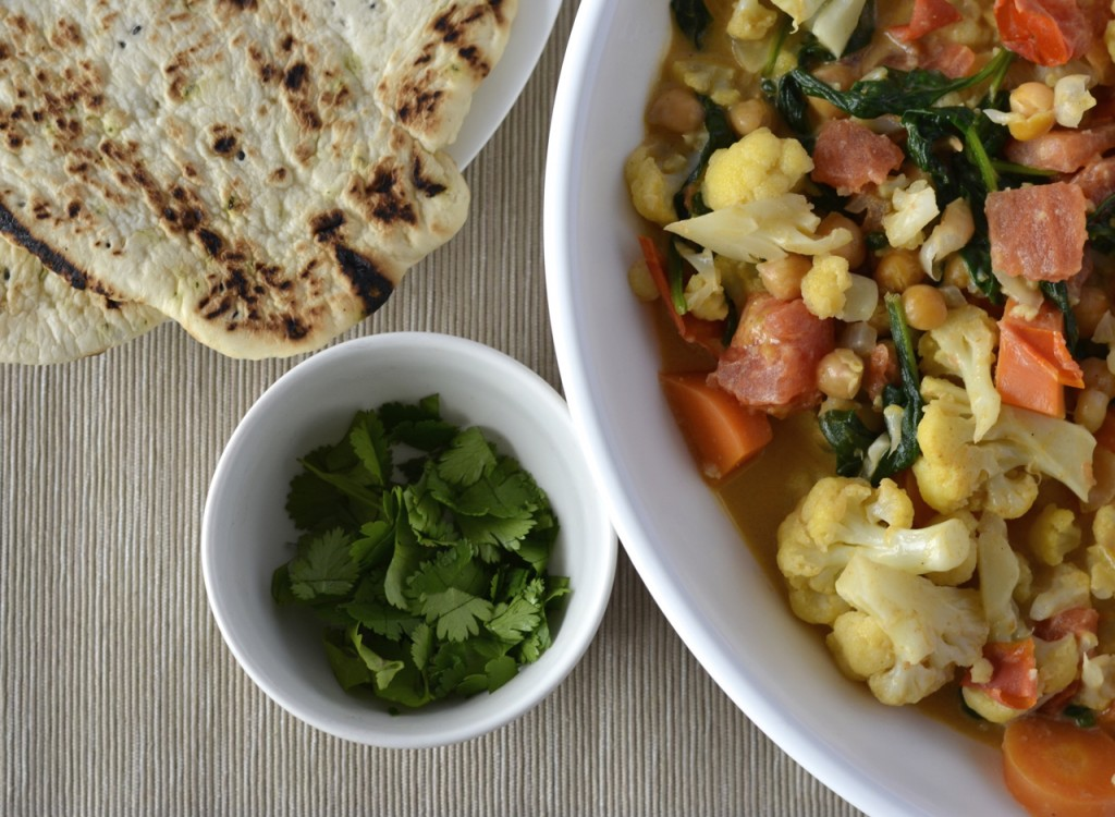 Cauliflower carrot curry