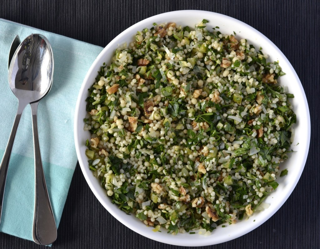Herby Israeli couscous salad