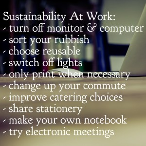 How to be Sustainable at Work