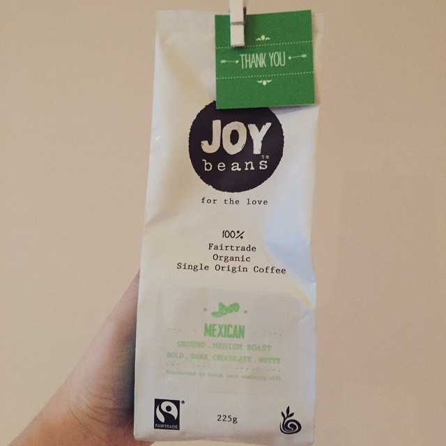 Bought myself some @joybeanscoffee to try out, it's fair trade, certified organic, donates 10% of profits to charities where the beans are grown AND the company is Australian. Phew, let's hope the coffee is delicious too! #coffee #fairtrade #organic
