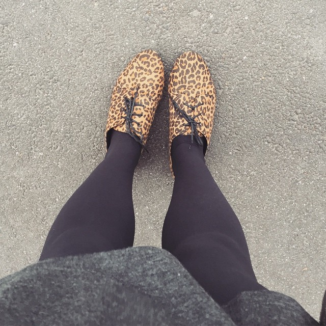 Pretty happy with my new little leopard print shoes! #leopardprint #shoes