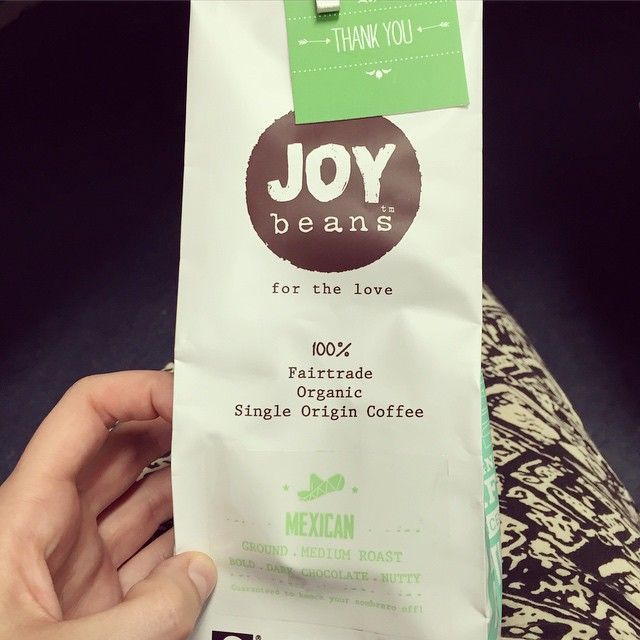 Restocked my @joybeanscoffee supply, I really wanted to try one of the other beans but nowhere near me had them in stock! Ah well, at least I know this one is delicious! #coffee #fairtrade