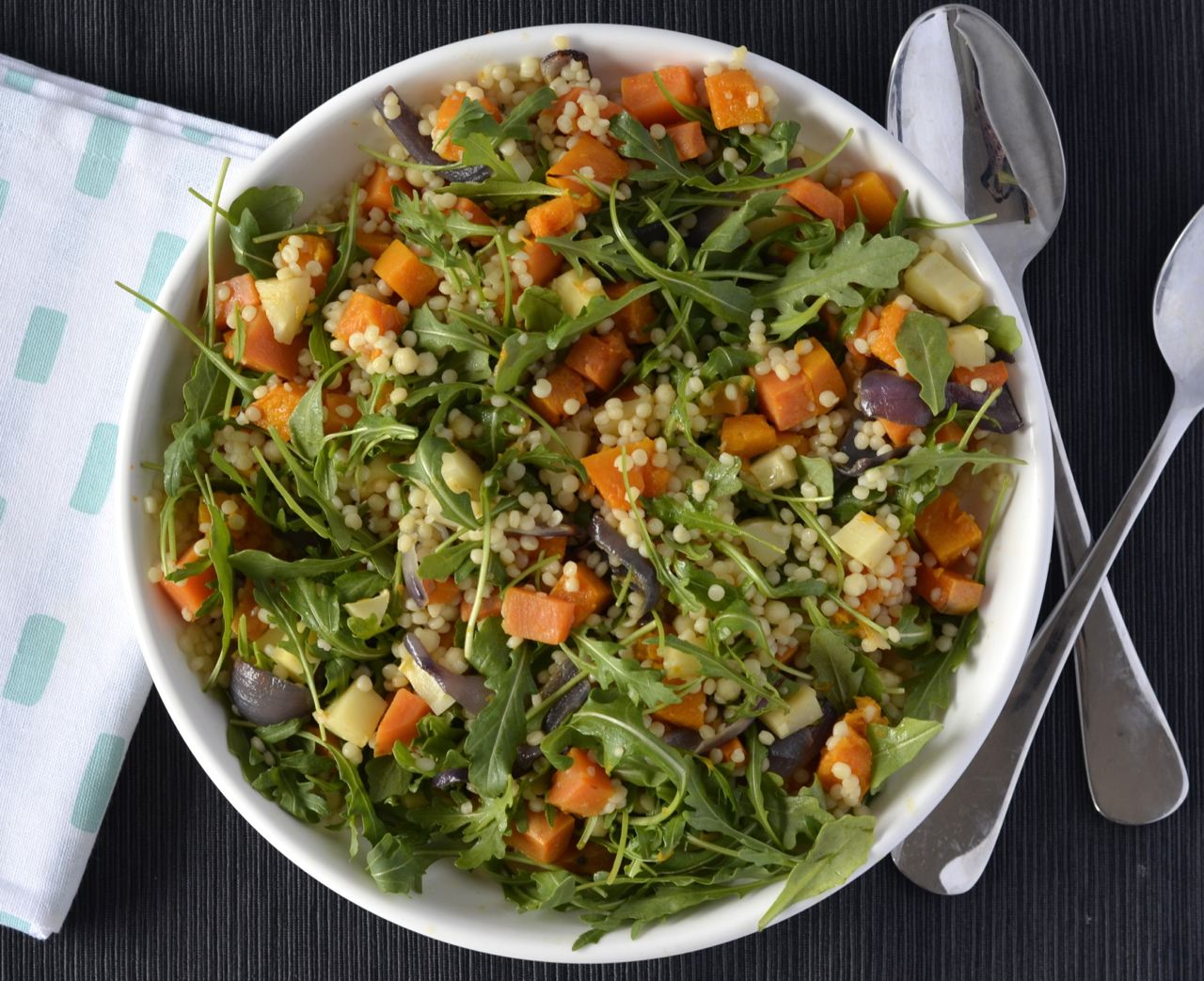 Recipe: Roast Vegetable Israeli Couscous Salad