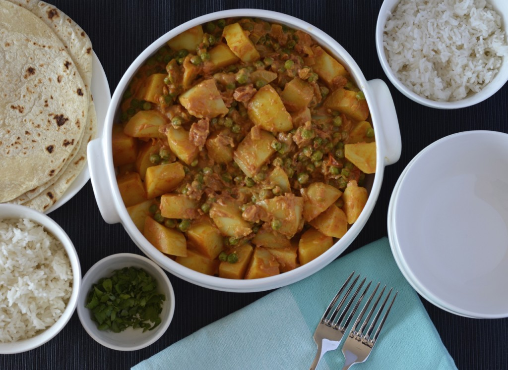 Potato and pea curry